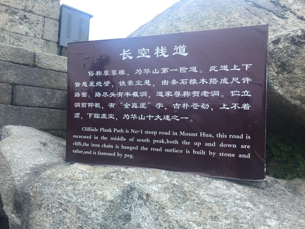 Mt Huashan Sign