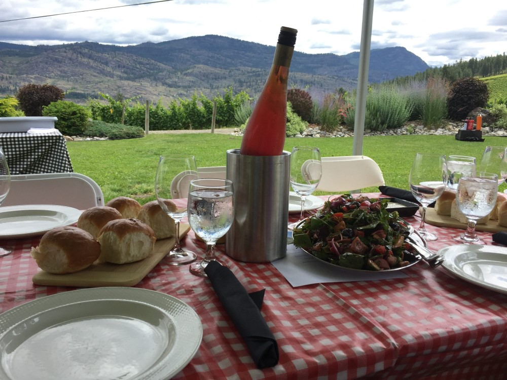 Lunch and Rose at See Ya Later Ranch